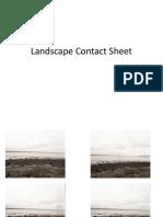 Landscape Contact Sheet