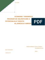 Economia Turismului - Program de Valorificare a Potentialului Turistic Al Judetului Harghita 2