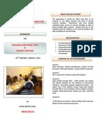 Programme 20.JANUARY.2013