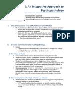 Chapter 2- An Integrative Approach to Psychopathology