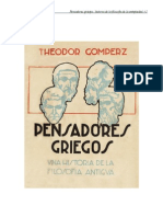 Gomperz Theodor Pensadores Griegos Libro 1