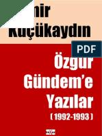 Özgür Gündem'e Yazılar (1992-93)