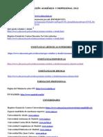 Direcciones Web 2012