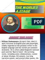 All the Worlds' a Stage Presentation - William Shakespeare