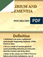 Delirium & Dementia-Class 1