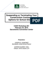 21 Suspending or Terminating Your Construction Contracts