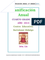 2013-Planificacion Anual 4TO Grado