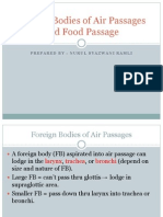 Foreign Bodies of Air Passages and Food Passage