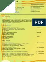 Curriculum Vitea Roshan Spa Vijayawada
