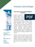 Renata Podgórzańska - Polska wobec procesu europeizacji Bałkanów Zachodnich