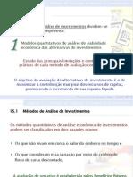 Cap 15 - Métodos de Avaliação Econômica de Investimentos