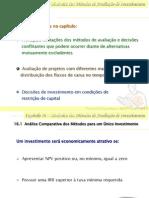 Cap 16 - Dinâmica dos Métodos de Avaliação de Investimentos