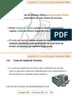 Cap 18 - Custo de Capital e Criação de Valor
