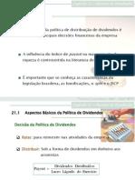 Cap 21 - Decisões de Dividendos