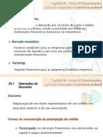 Cap 26 - Fontes de Financiamento e Aplicações Financeiras a