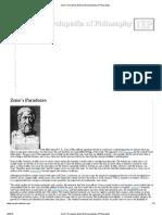 Zeno's Paradoxes[Internet Encyclopedia of Philosophy]