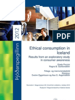 Ethical consumption in Iceland: Results from an exploratory study in consumer awareness