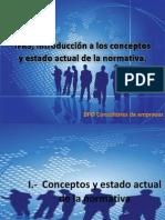 Ifrs Introduccion Al Estado Actual de La Normativa