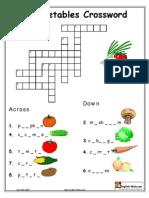 Veggies Crossword