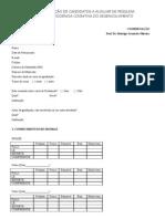Ficha de inscrição para IC