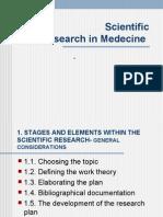 Scientific Research in Medecine