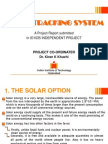 Solar Tracking System managment