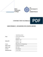 Non Destructive Testing Report