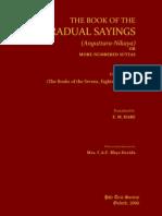 Book of Gradual Sayings [Anguttara-Nikaya] Vol. IV (2006). (349p) - Woodward, F.L.; Hare, E.M. (Trs) -