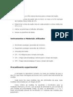Relatório de Metrologia 2sem 2011