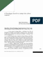 A Psicologia Social No Campo Da Cultura Materiual - Ulpiano Bezerra de Meneses