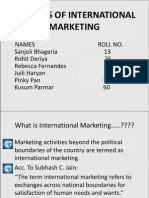 Analysis of International Marketing
