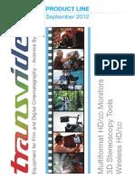 Transvideo Catalog September 2012