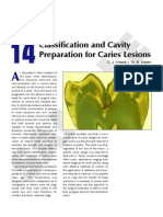 Classification and Cavity Preparation for Caries Lesions