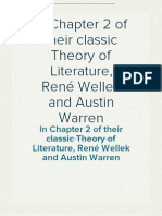 In Chapter 2 of their classic Theory of Literature, René Wellek and Austin Warren