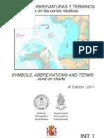 Simbolos Abreviaturas y Terminos Usados en Las Cartas Nauticas Armada Espanola Ed4 2011