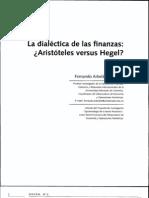 DIALECTCA DE LAS FINANZAS ARISTÓTELES Y HEGEL