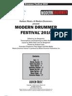 Modern Drummer Festival - 2010
