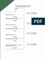 Beacon Navigation GmbH v. Crysler Group L.L.C., C.A. No. 11-cv-921-GMS (D. Del. Mar. 20, 2013)