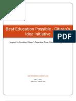 Citizen's Education Idea Initiative Summary
