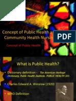 Concept of Public Health and Community Health Nursing