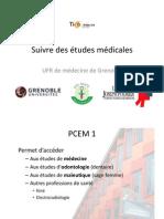 Présentation lycéens études de Médecine à Grenoble