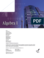 Bellwork Algebra I