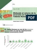 Midiendo el retorno de la inversión en la Gestión del Talento Humano