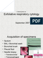 Exfoliative respiratory cytology (part 1 of 2)