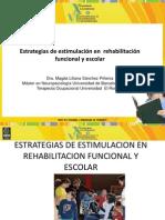 Estrategias de estimulación temprana para rehabilitación funcional y escolar LILIANA S