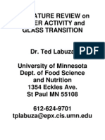 AW and Glass Transistion Review - Labuza