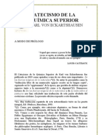Catecismo de La QuÍmica Superior. k.von Echartahausen