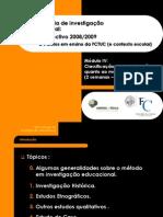Pesquisas Investigação Educacional - PPT