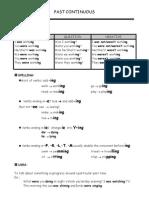 3 y 4 Medio Past Continuous Worksheet