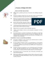 Budget Key Points